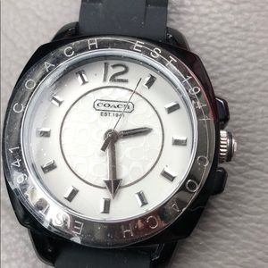 NWT Coach Black Boyfriend Watch.